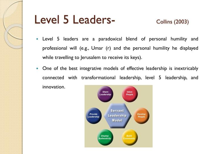 Level 5 Leaders-