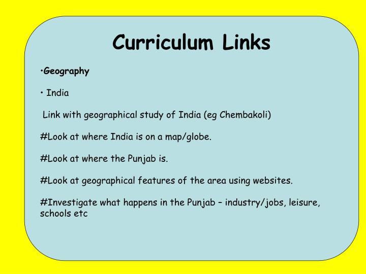 Curriculum Links