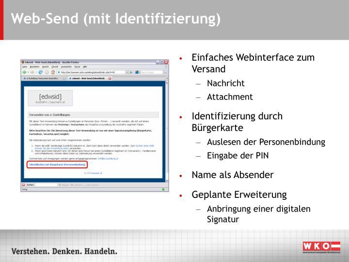 Web-Send (mit Identifizierung)