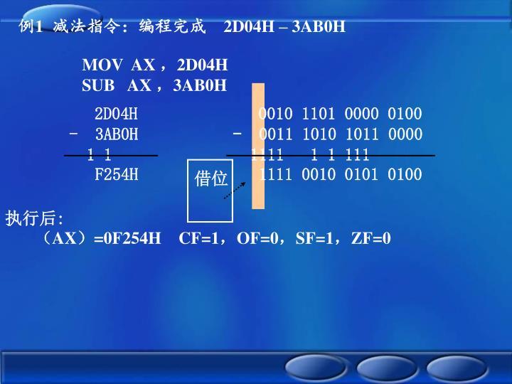 2D04H              0010 1101 0000 0100