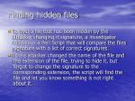 finding hidden files