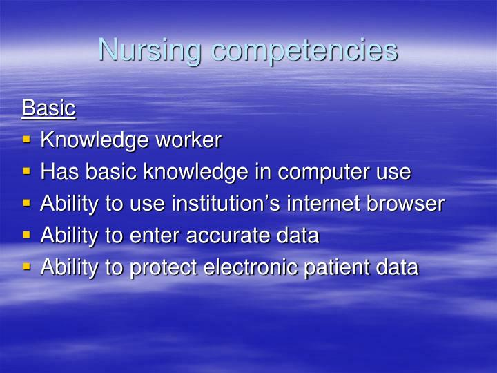 Nursing competencies
