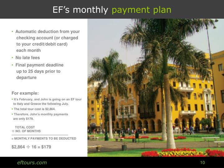 EF's monthly