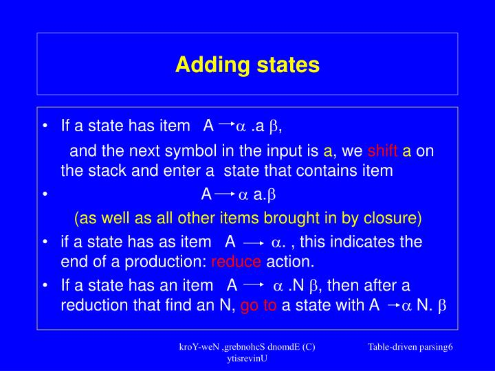 Adding states