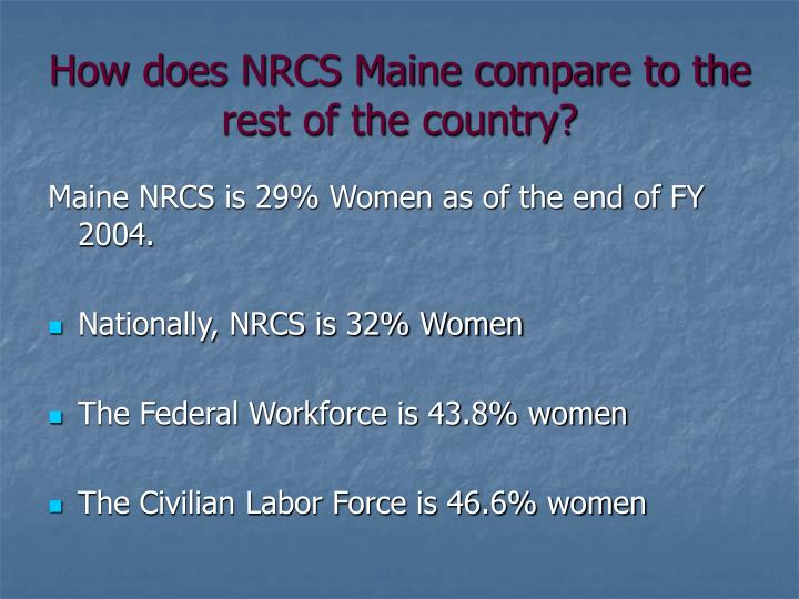 How does NRCS Maine compare to the rest of the country?