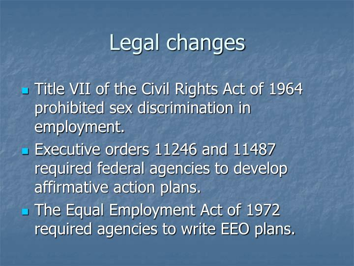Legal changes