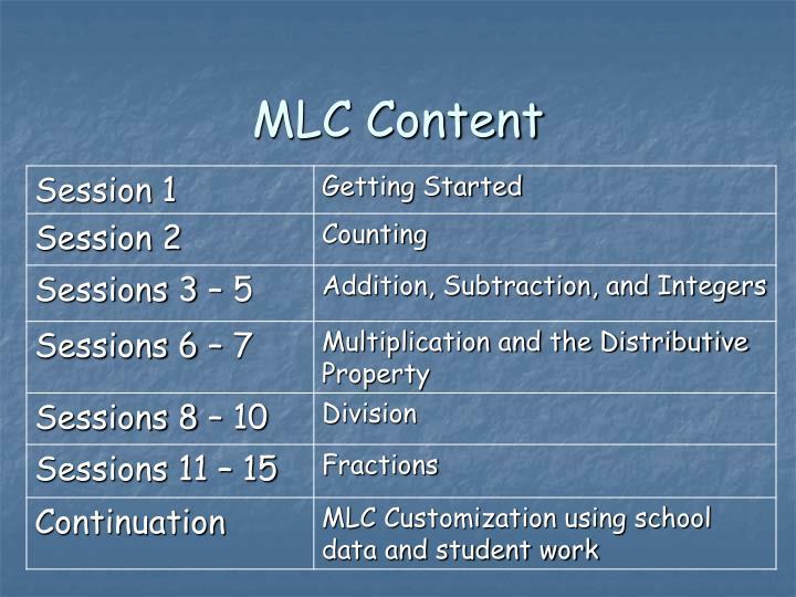 MLC Content