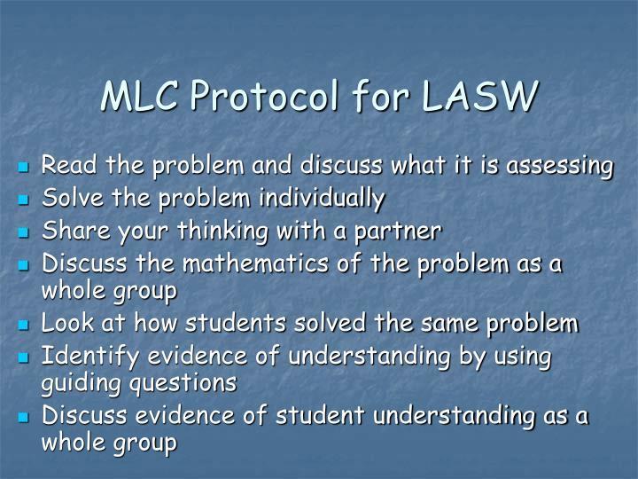 MLC Protocol for LASW