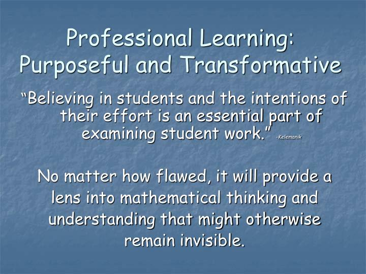 Professional Learning: