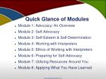 quick glance of modules