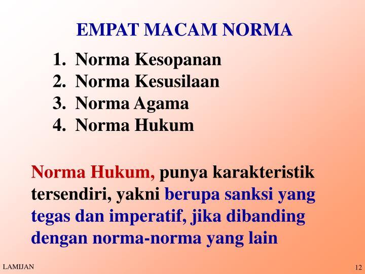 EMPAT MACAM NORMA