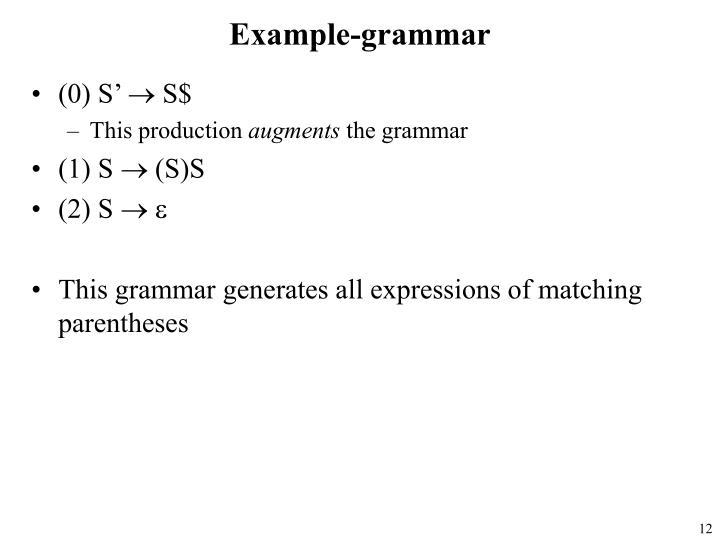 Example-grammar
