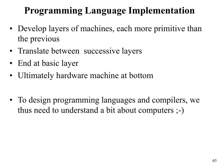 Programming Language Implementation