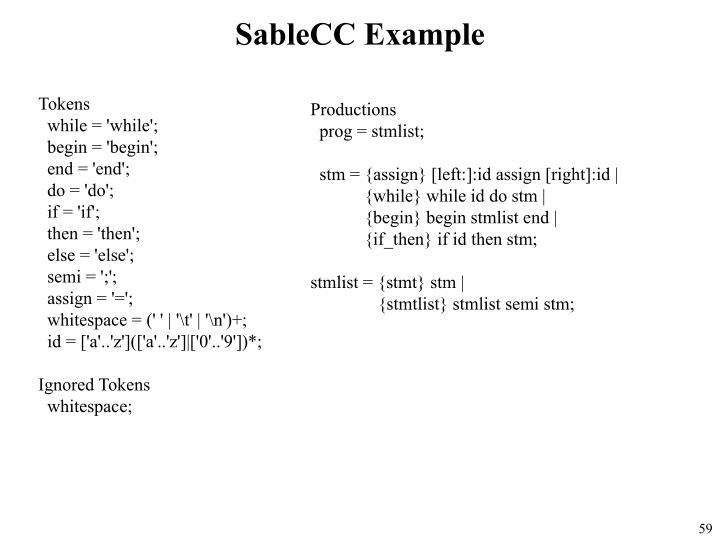 SableCC Example