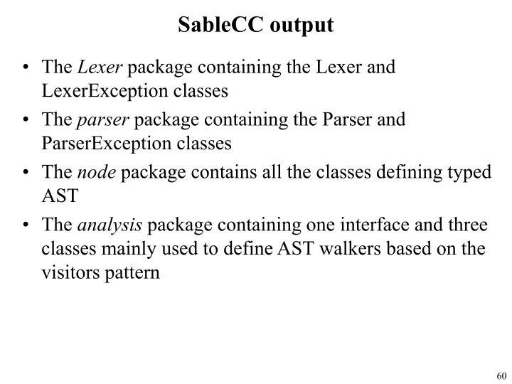 SableCC output