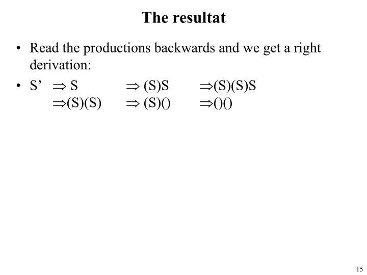 The resultat