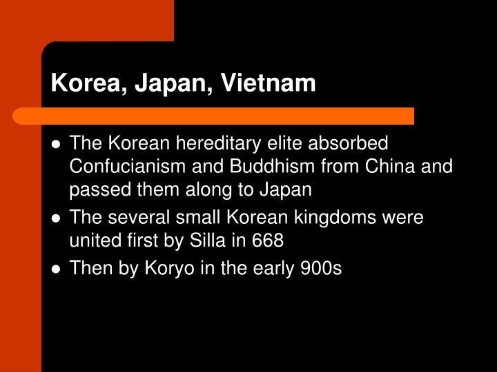 Korea, Japan, Vietnam