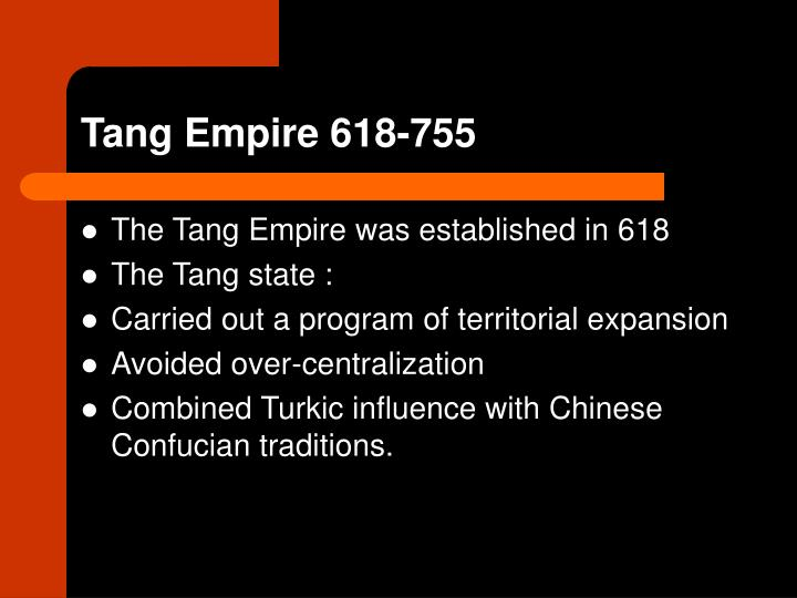 Tang Empire 618-755