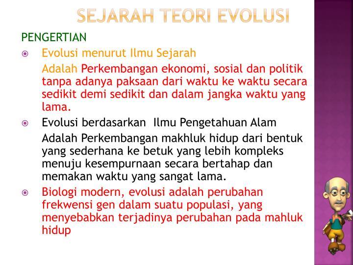 SEJARAH TEORI EVOLUSI