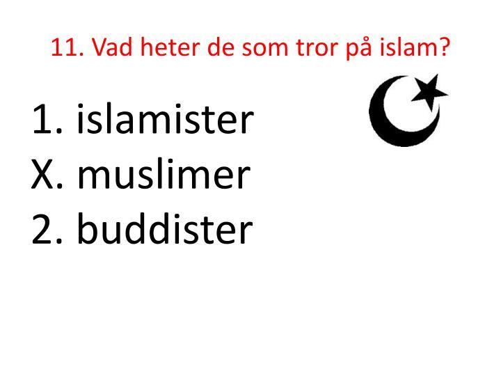 11. Vad heter de som tror på islam?