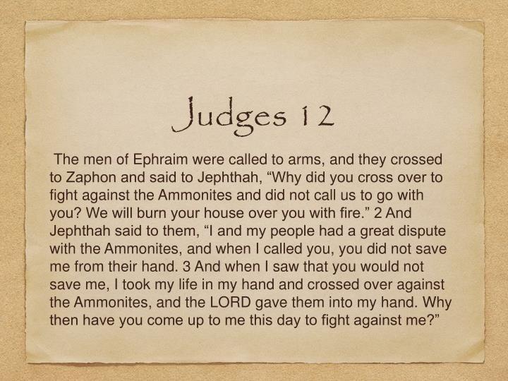 Judges 12