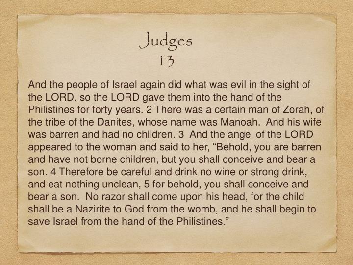 Judges 13