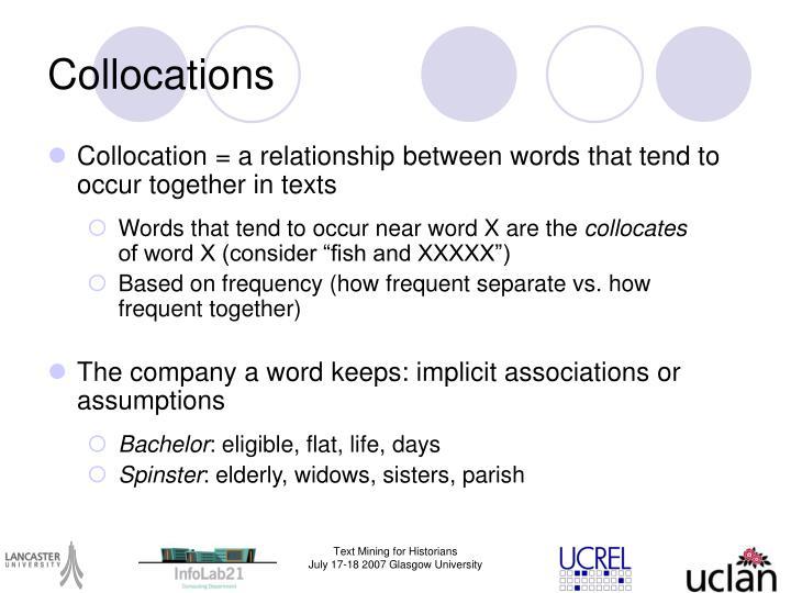 Collocations
