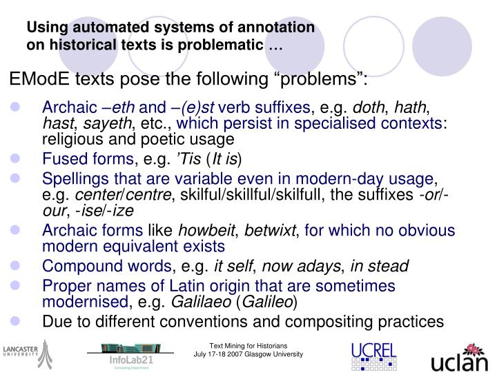Using automated systems of annotation