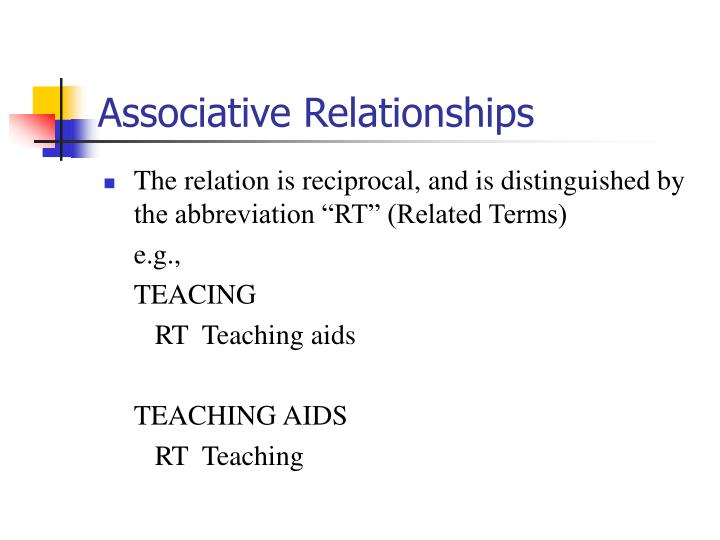 Associative Relationships