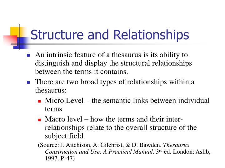 Structure and Relationships