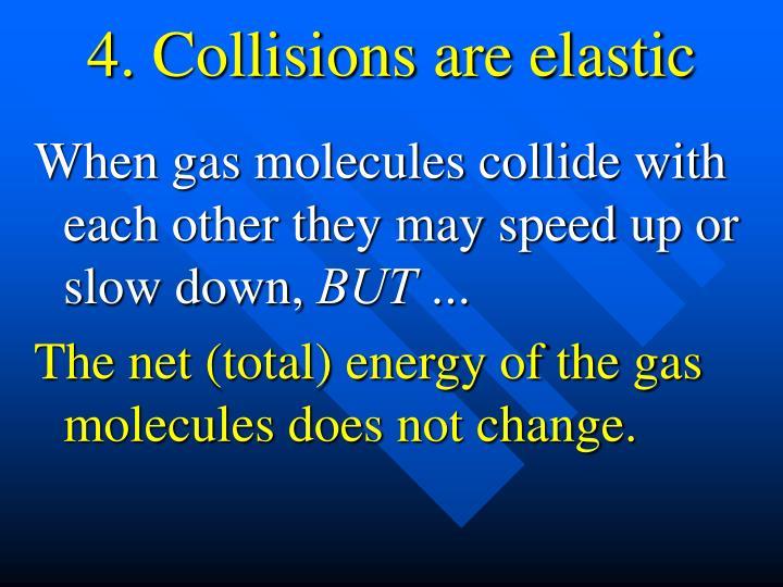 4. Collisions are elastic