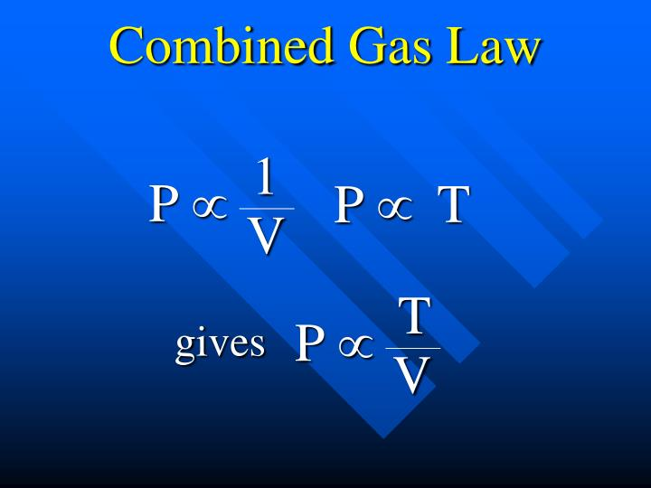 Combined Gas Law