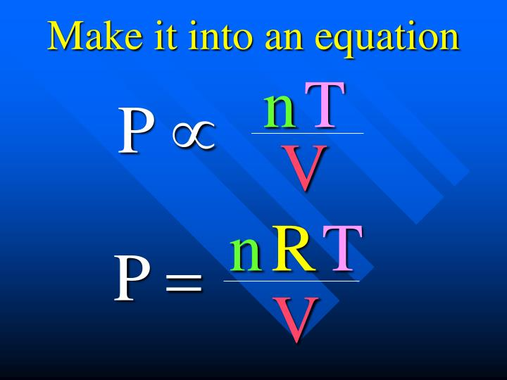 Make it into an equation