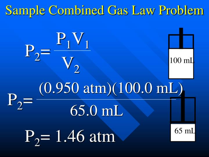 Sample Combined Gas Law Problem