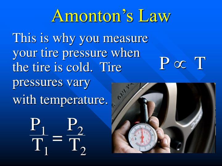 Amonton's Law