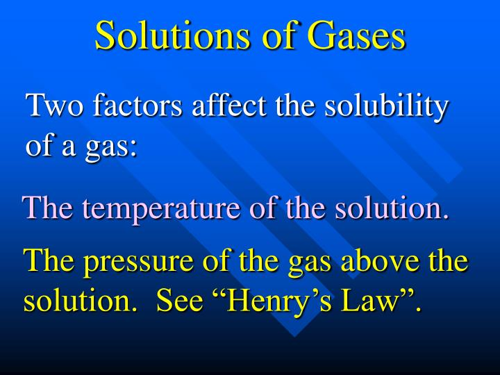 Solutions of Gases