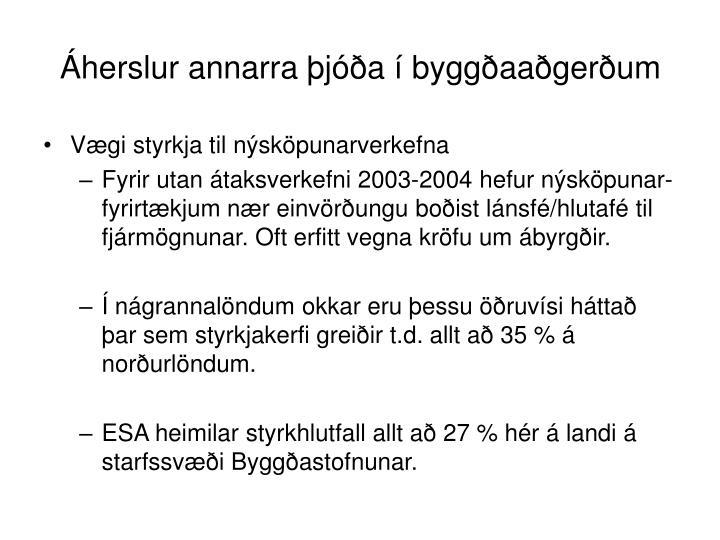 Áherslur annarra þjóða í byggðaaðgerðum