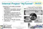 internal project hytunnel
