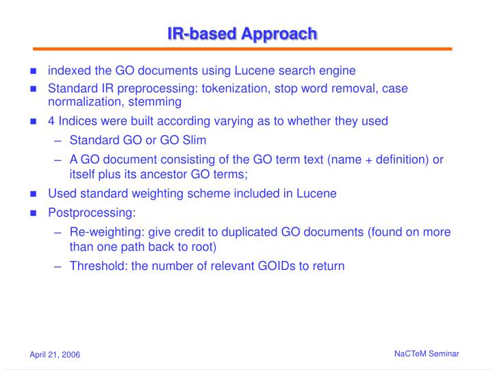 IR-based Approach