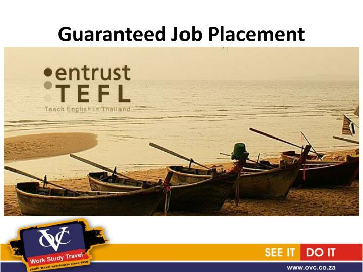 Guaranteed Job Placement