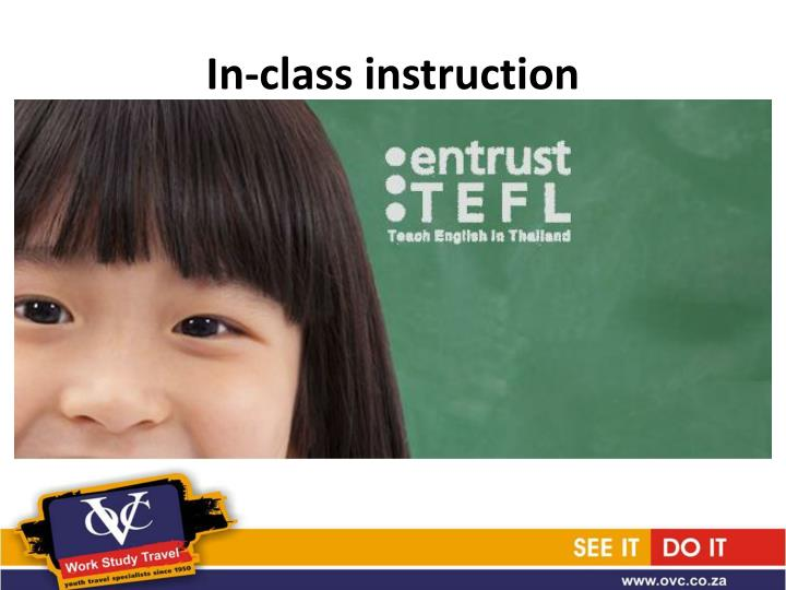 In-class instruction