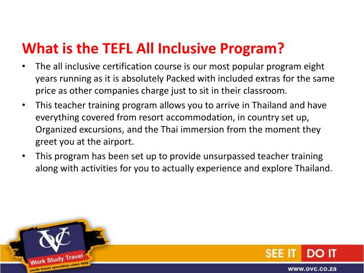 What is the TEFL All Inclusive Program?