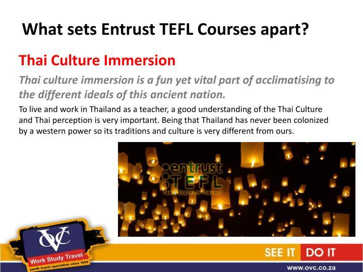 What sets Entrust TEFL Courses apart?