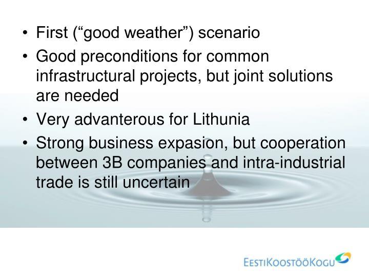 "First (""good weather"") scenario"