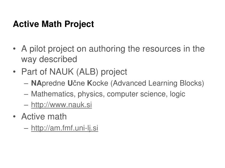 Active Math Project