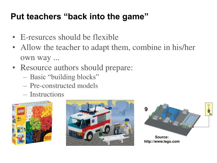 "Put teachers ""back into the game"""