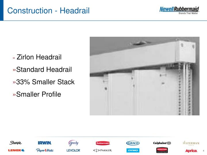 Construction - Headrail