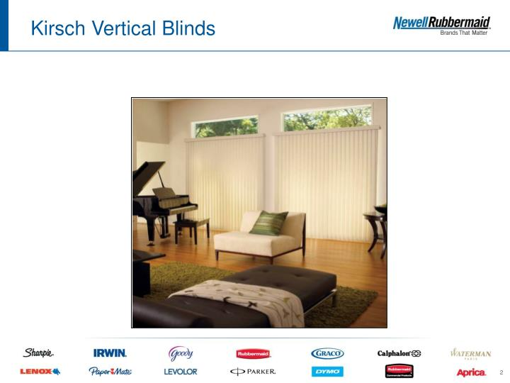 Kirsch vertical blinds