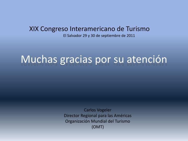 XIX Congreso Interamericano de Turismo