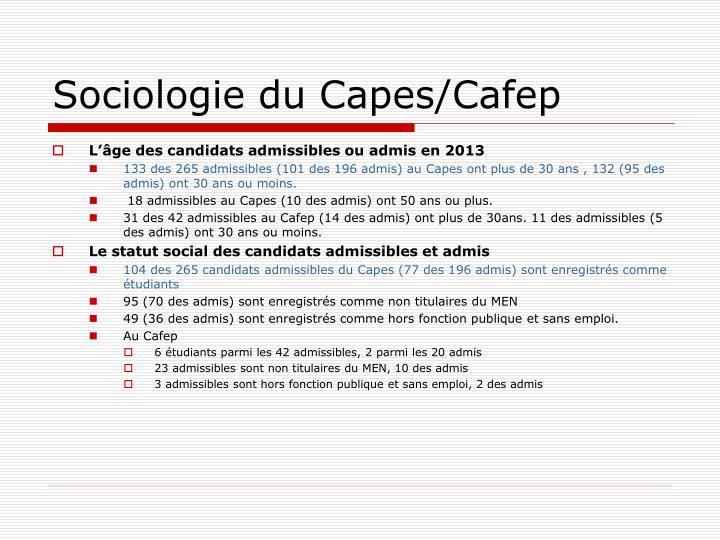 Sociologie du Capes/Cafep